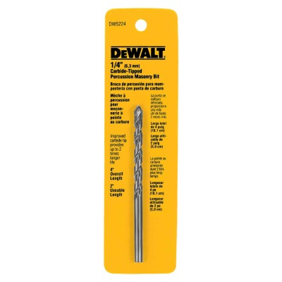 DeWalt 1/4 In. x 4 In. Masonry Drill Bit
