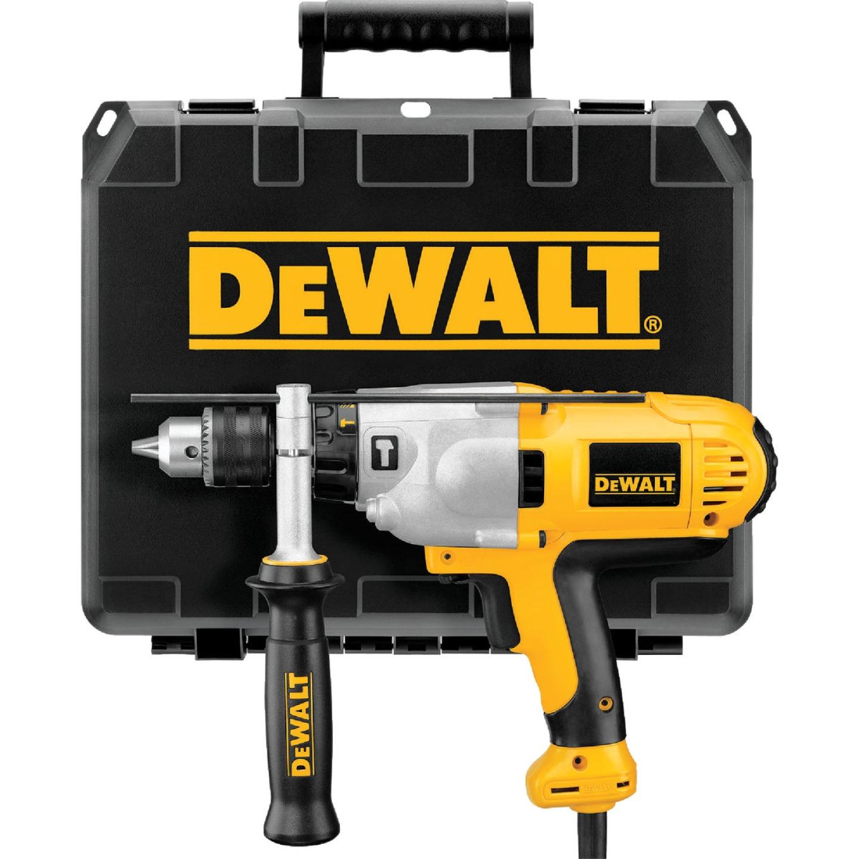 DeWalt 1/2 In. Keyed 10.0-Amp VSR Mid-Handle Grip Electric Hammer Drill Image 4
