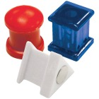 Master Magnetics 5/8 In. H. Red/White/Blue Plastic Magnetic Note Holder Push Pins (6-Pack) Image 1