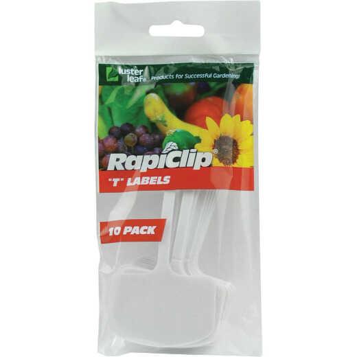 Rapiclip 6 In. Plastic Plant & Garden Marker T-Label (10-Pack)