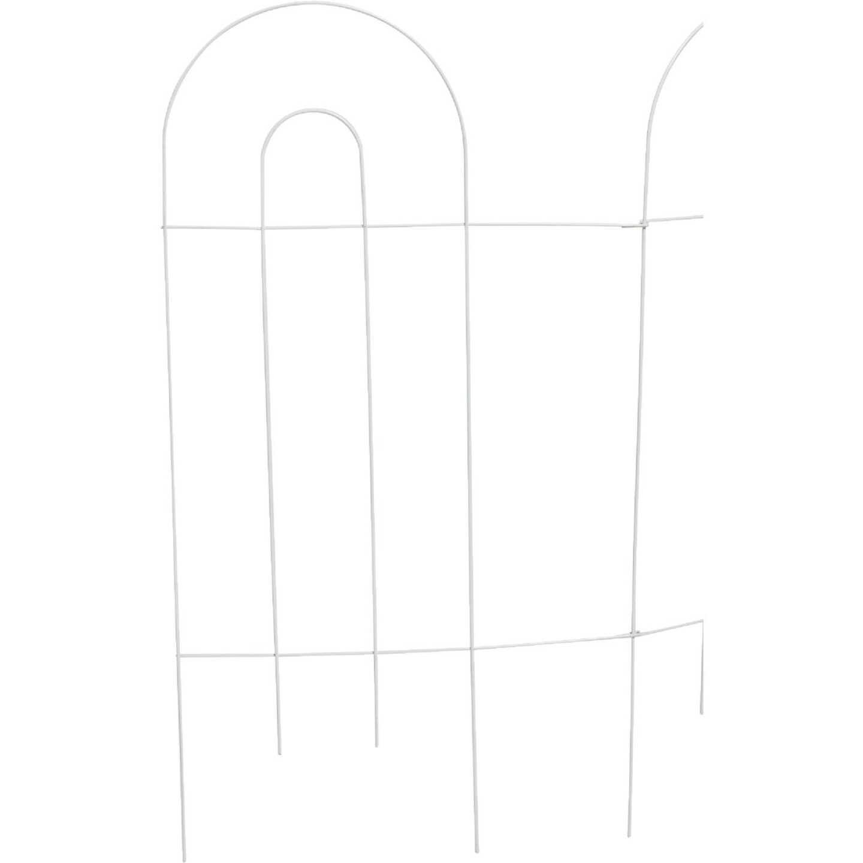 Best Garden 10 Ft. Powder-Coated White Wire Folding Fence Image 1