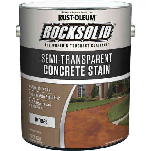 Rust-Oleum RockSolid Semi-Transparent Concrete Stain, 1 Gal., Tint Base