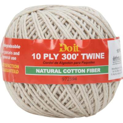 Do it 10-Ply x 300 Ft. White Cotton Parcel Post Twine